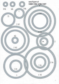 Pinball Rubber Ring Sizing Chart